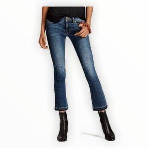 CAbi Kick It Crop Raw Hem Jeans